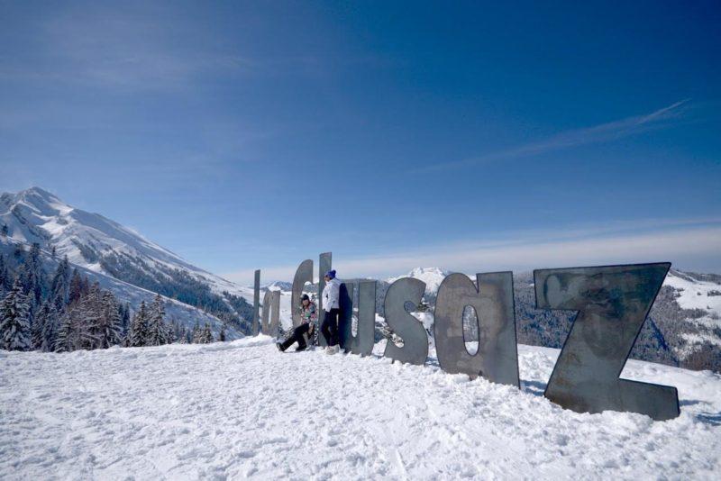 sortie ski à la clusaz