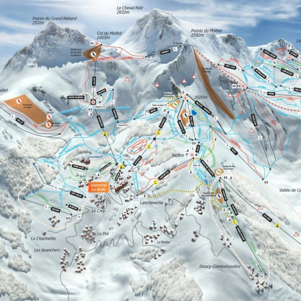 plan piste sortie ski valmorel
